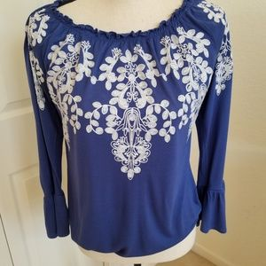 I.N.C. International Concepts Embroidered Blouse